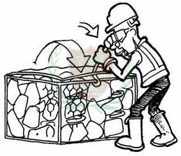 assemble gabion box