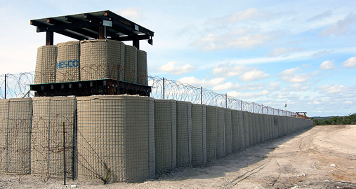 Hesco Defensive Barrier Military Gabion Barrier Double