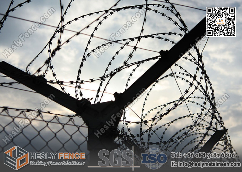 BTO-22 Concertina Razor Wire - HESLY CHINA Defensive Gabion Barrier ...